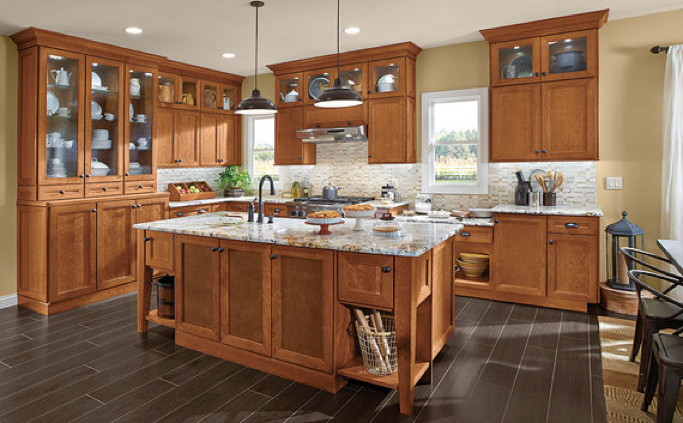 KraftMaid Cherry Kitchen in Praline