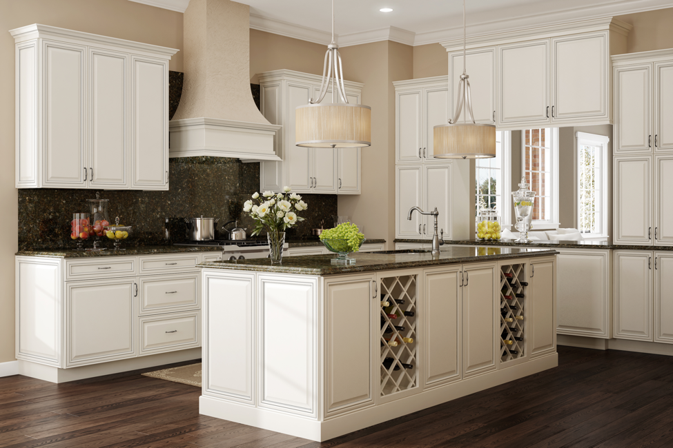 RSI Professional Cabinet Solutions: Newport in Alabaster Glaze